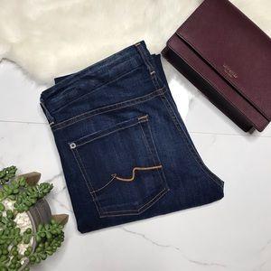 7FAM dark wash kimmie bootcut jeans